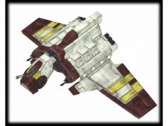 STARWARS DELUXE REPUBLIC ATTACK SHIP 3.75
