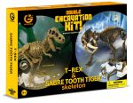 DOUBLE EXCAVATION KIT T-REX & SABRE TOOTH TIGER