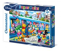 CLEMENTONI ΠΑΖΛ 104 τεμ. SUPER COLOR DISNEY TRAIN