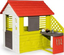 SMOBY ΣΠΙΤΑΚΙ NATUR PLAYHOUSE + SUMMER KITCHEN