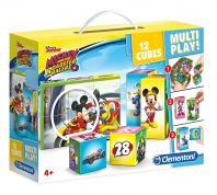ΠΑΖΛ CLEMENTONI 12 τεμ. 12 ΚΥΒΟΙ MULTIPLAY MICKEY ROADSTER RACERS