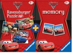 ������� �������� 4 �� 1 MEMORY & PUZZLE CARS 2