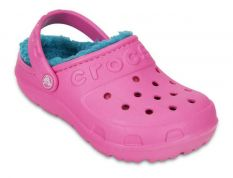 CROCS HILO LINED CLOG K PARTY PINK-TURQUOISE