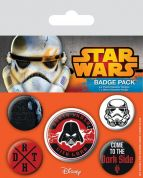 STAR WARS DARK SIDE PIN BADGE PACK (5 pcs)