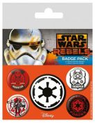 STAR WARS VILLAINS PIN BADGE PACK (5 pcs)