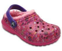 CROCS CLASSIC LINED GRAPHIC CLOG K CANDY PINK-PEONY