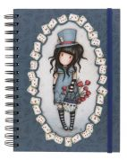 GORJUSS SANTORO DOUBLE WIRO-BOUND JOURNAL THE HATTER