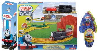 TOY CANDLE THOMAS SET ADVENTURE WITH DIESEL & GIFT CHOCOLATE EGG