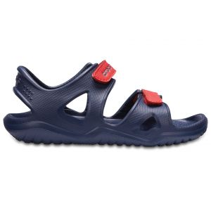 CROCS SWIFTWATER RIVER SANDAL K NAVY-FLAME