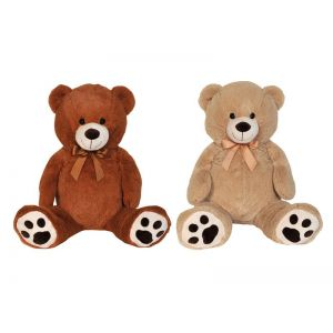 PLUSH BEAR 100 cm BROWN & BEIGE - 2 COLOURS