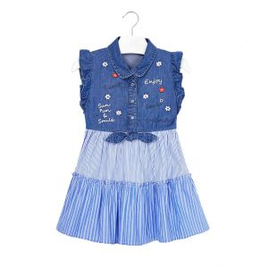 MAYORAL DRESS COMBINED DENIM