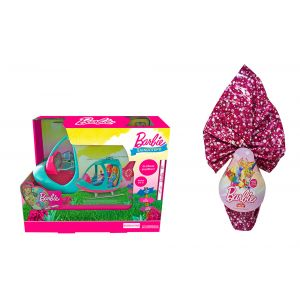 TOY CANDLE BARBIE HELICOPTER & GIFT CHOCOLATE EGG