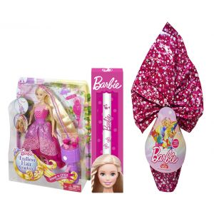 TOY CANDLE BARBIE DOLL PRINCESS MAGIC LONG HAIR & GIFT CHOCOLATE EGG