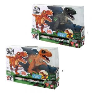 TOY CANDLE ROBO ALIVE ELECTRONIC DINOSAUR T-REX - 2 COLOURS