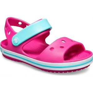 CROCS CROCBAND SANDAL KIDS CANDY PINK-POOL
