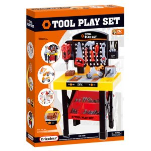 PLAY SET WORK BENCH WITH TOOLS AND ACCESSORIES