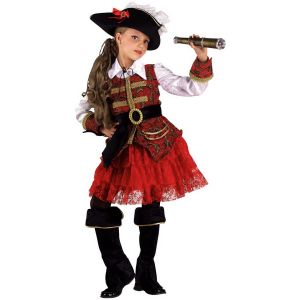 CARNIVAL COSTUME PIRATE OF 7 TREASURES + HAT