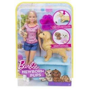BARBIE AND NEWBORN PUPPIES