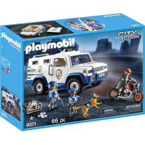 PLAYMOBIL CITY ACTION POLICE MONEY TRANSPORTER BUILDING SET
