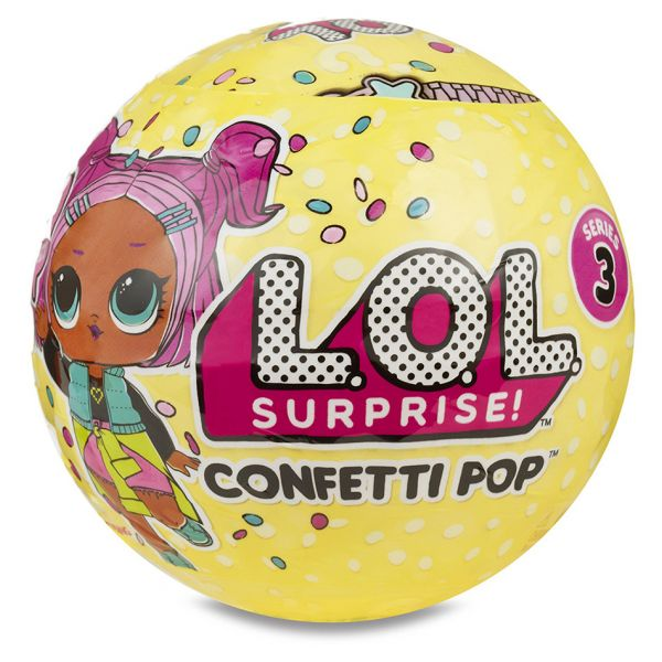 LOL SURPRISE CONFETTI POP 9 ΕΚΠΛΗΞΕΙΣ S3