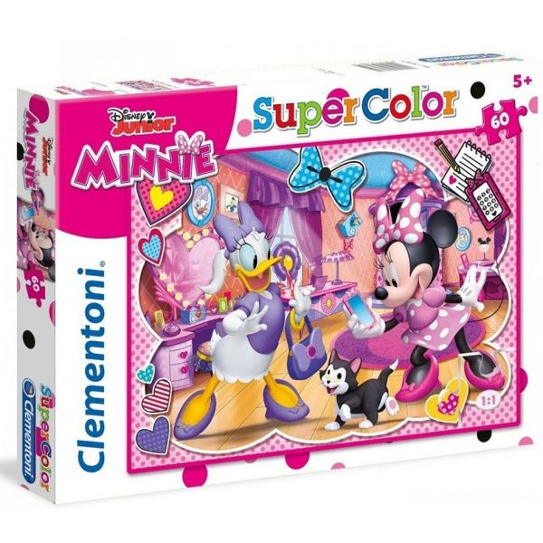CLEMENTONI ΠΑΖΛ 60 SUPER COLOR MINNIE HAPPY HELPER