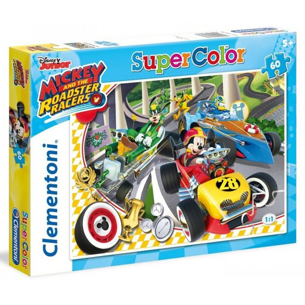 CLEMENTONI ΠΑΖΛ 60 SUPER COLOR MICKEY ROADSTER RACERS