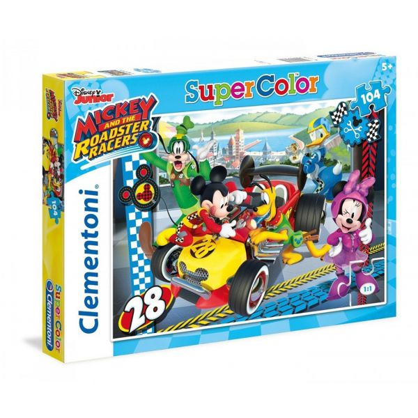 CLEMENTONI ΠΑΖΛ 104 τεμ. SUPER COLOR MICKEY ROADSTER RACERS
