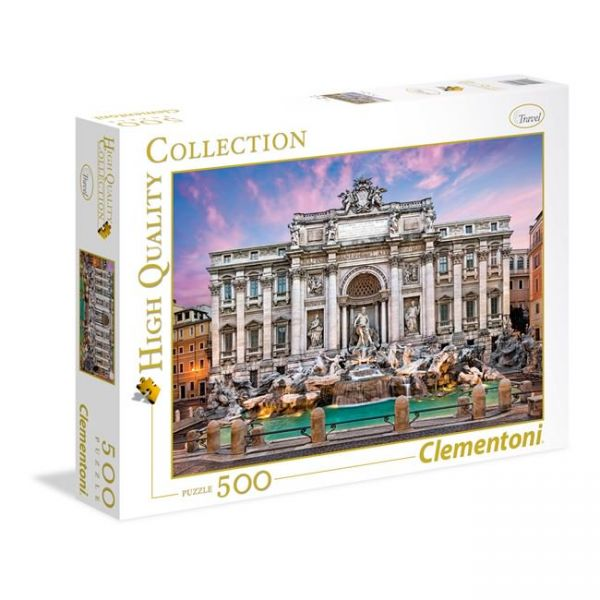 CLEMENTONI ΠΑΖΛ 500 τεμ. HIGH QUALITY COLLECTION FONTANA DI TREVI