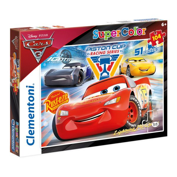 CLEMENTONI ΠΑΖΛ 104 τεμ. S.C. CARS PISTON CUP LEGENDS