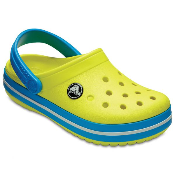 CROCS CLASSIC CLOG K TENNIS BALL GREEN/OCEAN