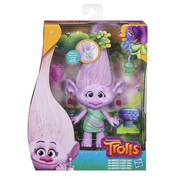 TROLLS GIA GROOVES & TROLL BABY ΜΕΣΑΙΑ ΚΟΥΚΛΑ