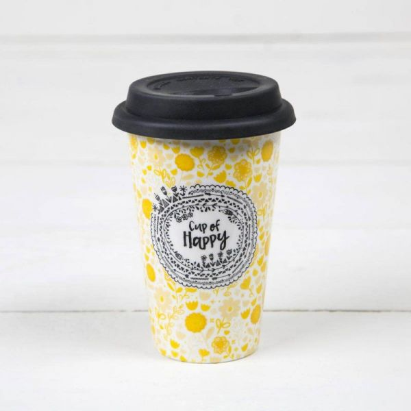 NATURAL LIFE ΚΕΡΑΜΙΚΗ ΚΟΥΠΑ ΜΕ ΚΑΠΑΚΙ CUP OF HAPPY