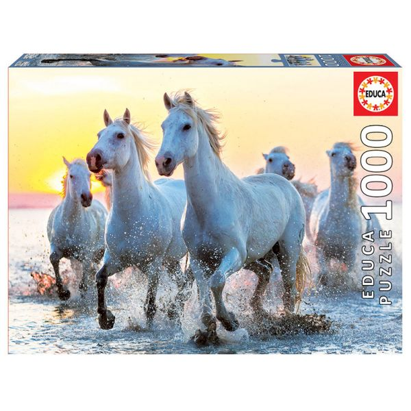 EDUCA ΠΑΖΛ 1000 ΤΕΜ. WHITE HORSES AT SUNSET