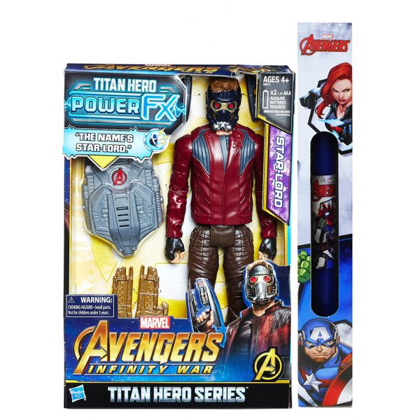 ΠΑΙΧΝΙΔΟΛΑΜΠΑΔΑ AVENGERS 12\'\' TITAN HERO POWER FX STARLORD
