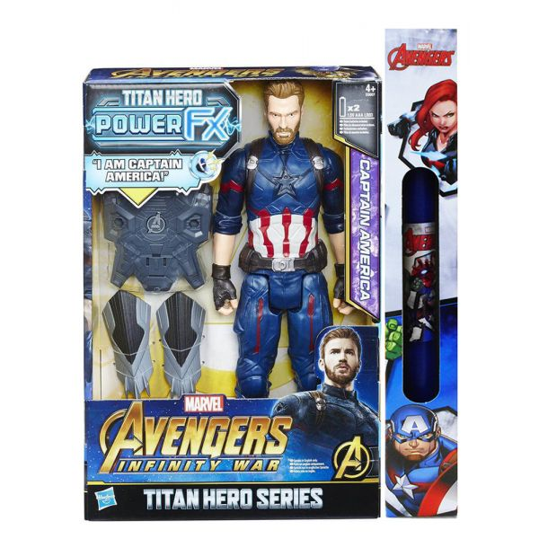 ΠΑΙΧΝΙΔΟΛΑΜΠΑΔΑ AVENGERS 12\'\' TITAN HERO POWER FX CAPTAIN AMERICA
