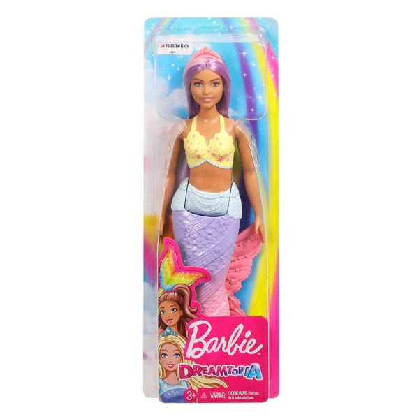 BARBIE ΓΟΡΓΟΝΑ DREAMTOPIA RAINBOW COVE PRINCESS PURPLE HAIR