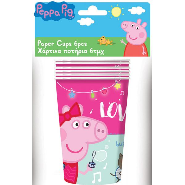 Party Cone Hat 6 Pcs Peppa Pig