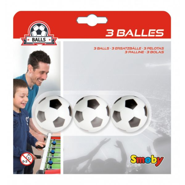 SMOBY 3 BALLS PLASTIC 34 mm IN BLISTER 140711