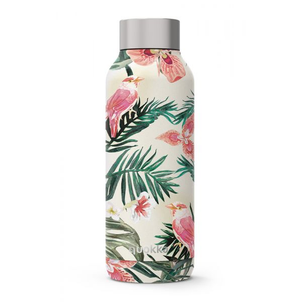 QUOKKA STAINLESS STEEL BOTTLE SOLID JUNGLE FLORA 510 ml