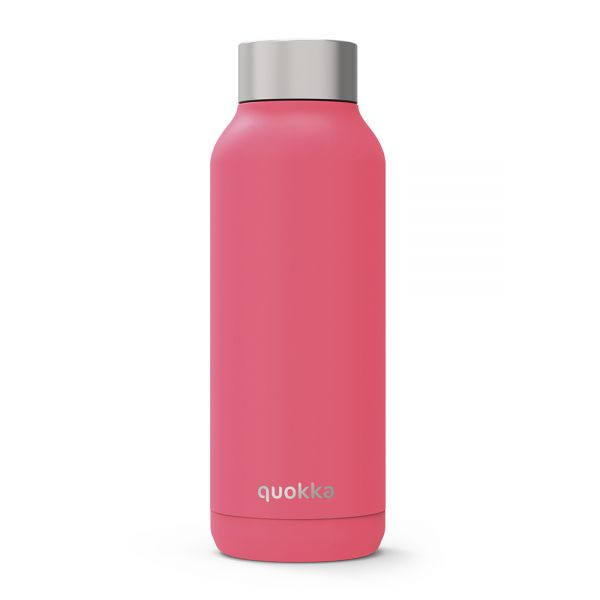 QUOKKA STAINLESS STEEL BOTTLE SOLID BRINK PINK 510 ml