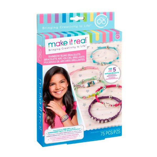 MAKE IT REAL - RAINBOW BLING BRACELETS