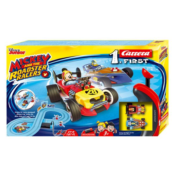 CARRERA FIRST SET 1:50 MICKEY AND THE ROADSTER RACERS 2.4m
