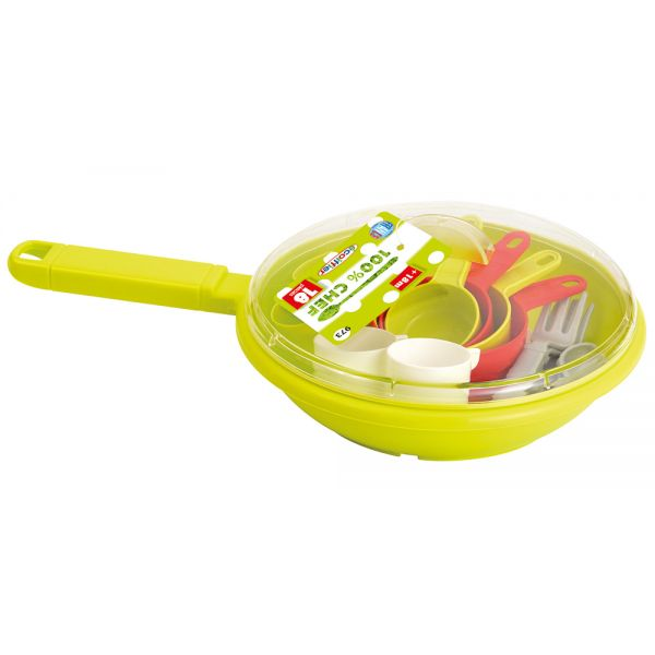 ECOIFFIER FRYING PAN WITH DINING ACCESSORIES