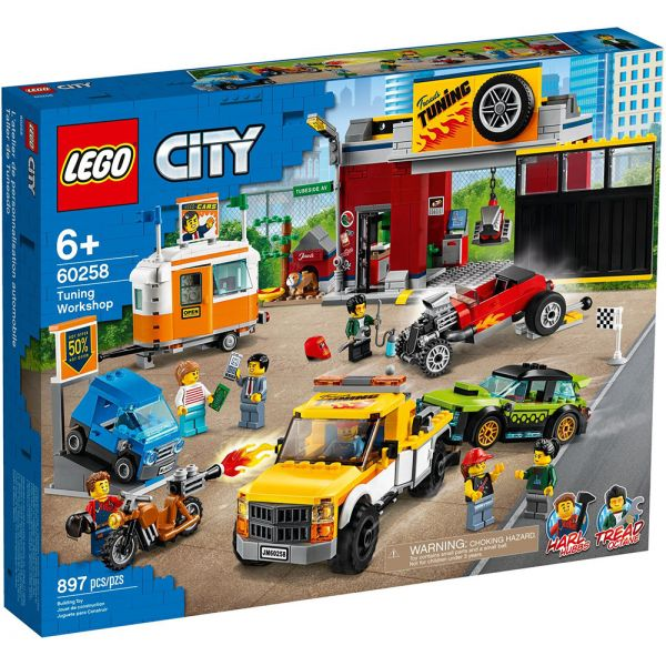 LEGO CITY NITRO WHEELS TUNING WORKSHOP