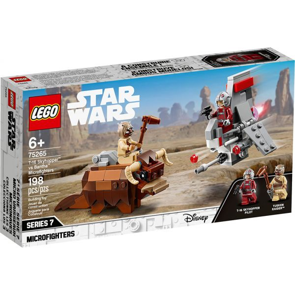 LEGO STAR WARS TM T-16 SKYHOPPER vs BANTHA MICROFIGHTERS