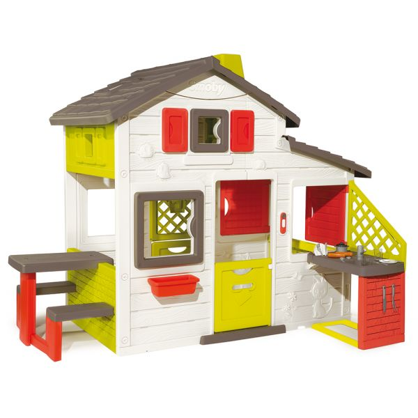 SMOBY ΣΠΙΤΑΚΙ FRIENDS HOUSE PLAYHOUSE + SUMMER KITCHEN