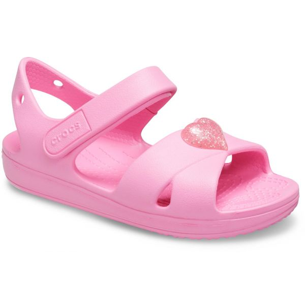 CROCS CLASSIC CROSS STRAP SANDAL PS PINK LEMONADE