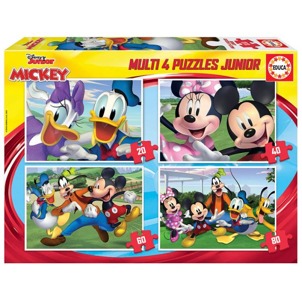 EDUCA MULTI 4 ΠΑΖΛ MICKEY AND FRIENDS 20-40-60-80