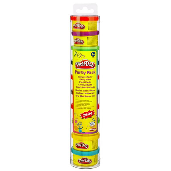 PLAY-DOH  PARTY ΜΙΝΙ ΒΑΖΑΚΙΑ 10 ΤΕΜ. - PARTY PACK IN TUBE