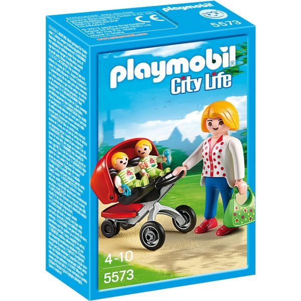 PLAYMOBIL CITY LIFE ΜΑΜΑ ΜΕ ΔΙΔΥΜΑ ΚΑΙ ΚΑΡΟΤΣΑΚΙ